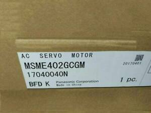 ONE New panasonic MSME402GCGM Servo Motors