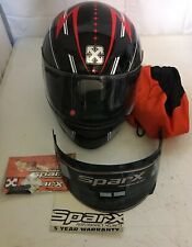 SPARX med motorcycle helmet ECE 22-05 DOT black gray Royal Arms of England lions