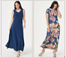 Attitudes by Renee Como Jersey Set/2 Maxi Dresses-Ink/Dahlia-Large-A347401