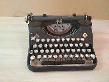 Old typewriter Mercedes German keyboard.