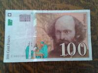beau billet 100 francs cezanne 1998