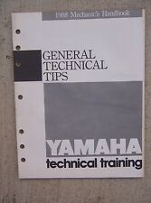 1988 Yamaha Motorcycle Training Manual General Technical Tips Cycle ATV   L