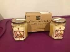 New Home Interiors 2 Jar Candles Christmas Candy Cane Yellow Santa Free Ship