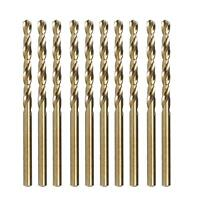 German Quality Heller 3mm HSS-CO Cobalt Drill Bit 10 Pcs Cuts Hard Metal Steel