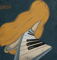 Vintage abstract gouache painting jazz poster