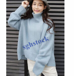 New Cashmere Long Sleeve Womens Korean Pullovers knitwear Loose Sweater Tops S21