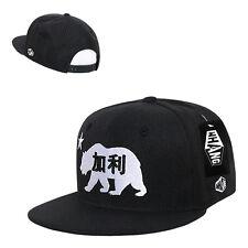 Black California Republic Chinese Letter Cali Bear Snapback Snap Back Cap Hat