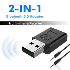 Bluetooth 5.0  Transmitter& Receiver Wireless Adapter Audio 3.5mm A2DP TV-Stereo