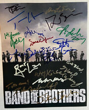 Band Of Brothers photo signed by the cast Tom Hanks Steven Spielberg more auto's