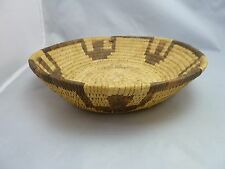 """Native American Weave Tray Basket. Very Nice Design. Approx. 2.25"""" T x 9.5"""" D"""