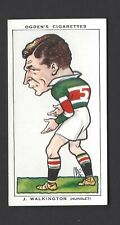 OGDENS - FOOTBALL CARICATURES - #50 J WALKINGTON, HUNSLET