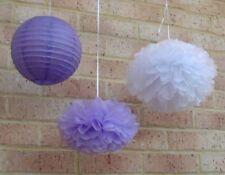 18x paper pom poms paper lanterns wedding birthday anniversary bar hanging decor