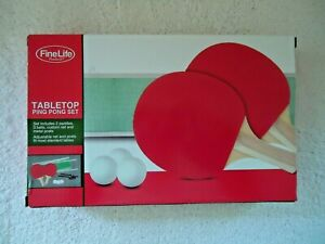 """Fine Life Products """" NIB """" Tabletop Ping Pong Set """" GREAT GIFT ITEM """""""
