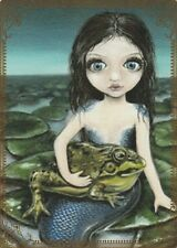 Modern-Wide-Linen-Beach Theme-P26-Mermaid Holding Toad-Swap Playing Card
