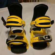 New listing Vintage Forum Snowboard Bindings Atp M / L Yellow Black Jp Walker Style Nice!