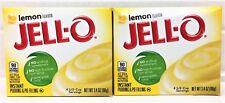 Jello Lemon Instant Pudding & Pie FIlling 3.4 oz ( 2 Boxes )