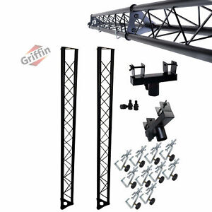 2 PACK Triangle Truss Kit DJ Booth Trussing Section Stage Segment Lighting Stand