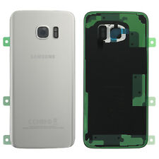 Original Samsung GALAXY S7 EDGE G935F Akkudeckel Deckel Backcover Silber Kleber