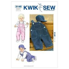 KWIK SEW SEWING PATTERN BABY OVERALLS & HAT SIZE S M L XL K3145