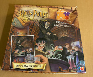 Harry Potter and The Sorcerers Stone 260 Piece Family Puzzle Magic Decoder