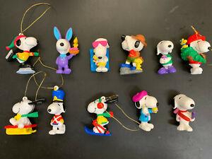 LOT of 11 Vintage Snoopy & Woodstock PVC Figure Whitman, etc.
