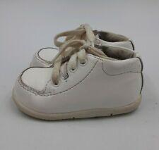 "Stride Rite KIDS SRT White Leather ""Grayson"" Babys Walking Shoes size 4M US"