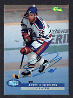 Jeff Friesen signed autograph auto 1995 Classic Images Hockey Trading Card