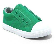 Cat & Jack Toddler Boys' Dwayne Green Canvas Hook & Loop Slip-On Sneakers Shoes