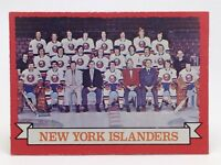 1973 74 OPC O Pee Chee Team Card 101 New York Islanders Hockey Card E640