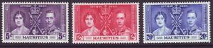 Mauritius 1937 SC 208-210 MH Set Coronation