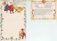 1 CHRISTMAS VILLAGE SNOW FOLK ART VINTAGE BUTTER CHURN SWEDISH RUSKS RECIPE CARD