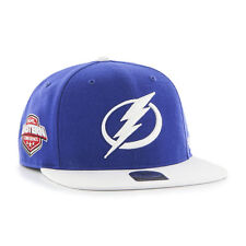 Tampa Bay Lightning Bolts NHL Hockey '47 Brand Snapback Hat / Cap - Flat Brim