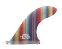 "Longboard 9"" Pacific Vibrations FIN SURFBOARD Lovebird Mexican blanket fabric"