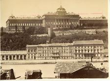 Hongrie, Budapest, vue sur le château de la colline de Buda Vintage albumen prin