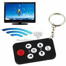 Mini Key Ring Universal Infrared IR TV Set Remote Control Keychain 7 Keys