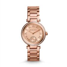 ** nuevo * Damas Michael Kors Mini Skylar Rose Gold Crystal Watch mk5971-RRP £ 259