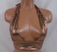 Sauvage Luxe Bronze Shimmery Halter Top Small Item #522L