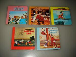 5 Mini Board Walt Disney Books - Mickey Mouse - GOOFY - Donald Duck