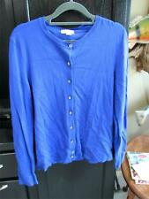 Charter Club Periwinkle Blue Thin Knit Cardigan Sweater | Size Large