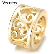 Vocheng Endless Charms for Sheepskin Bracelet Heart Hollow Brass Material VC-284