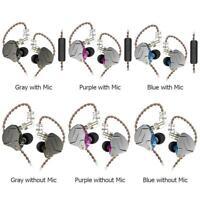 KZ ZSN Pro Metal Earphones 1BA+1DD Hybrid HIFI Bass Earbuds In Ear Headset