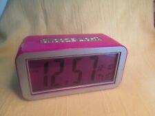 Snooze Light Alarm Clock Back Lit Digital LCD Display Calendar Battery Included