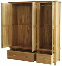 Contemporary Solid Wood Wardrobes with 3 Doors