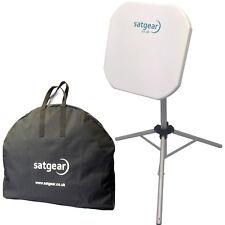 Satgear Premium Flat Portable Satellite Dish Kit (Easyfind LNB for Avtex TV's)