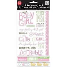 MAMBI Stickers - Sweet Baby Girl With Glitter 5 sheets