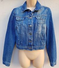 Ladies Blue Denim Jacket Size 10 by George, In Excellent Condition, Festival