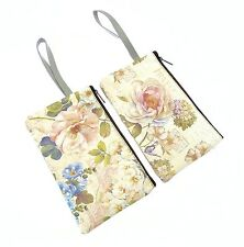 Floral Design Make Up Bag With Zip Fastening And Carry Handle - ONE AT RANDOM