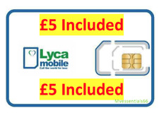 Lyca Mobile Pay As You Go Sim Card 3 In 1 WITH £ 5.00 Credit Pre-Loaded OFFICIAL