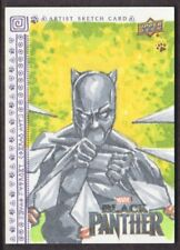 2018 Upper Deck Marvel Black Panther Sketch Card saintworksart 1/1 Black Panther