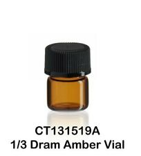 100 Us Made Amber Glass Vials With Screw Caps 15 X 19 Mm 13 Dram 125 Ml